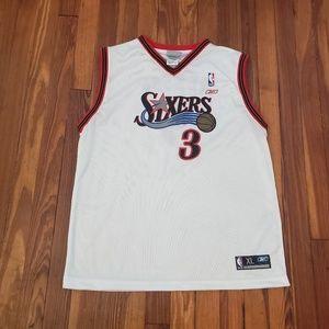 Reebok Allen Iverson Jersey #3 White 76ers NBA Six